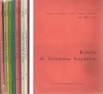 Boletin de Liteturas Hispanicas de Fac de Fil y Letras de la Universidad del Litoral Nros 1 a 10