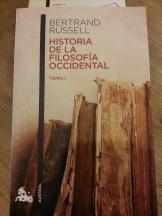 Historia de la filosofia occidental Tomo 1 tapa